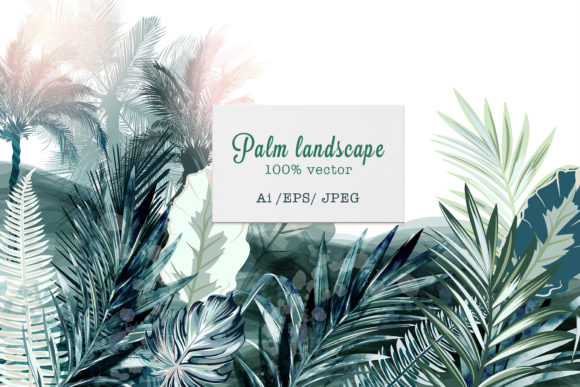 Tropical Landscape Vector Illustration Graphic Illustrations By fleurartmariia