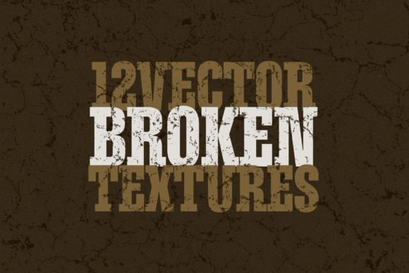 Download Free Vector Broken Textures X12 Graphic By Smartdesigns Creative for Cricut Explore, Silhouette and other cutting machines.