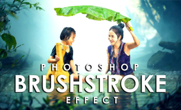 Print on Demand: Vibrant Brushstroke Photoshop Action Graphic Actions & Presets By denestudios - Image 1