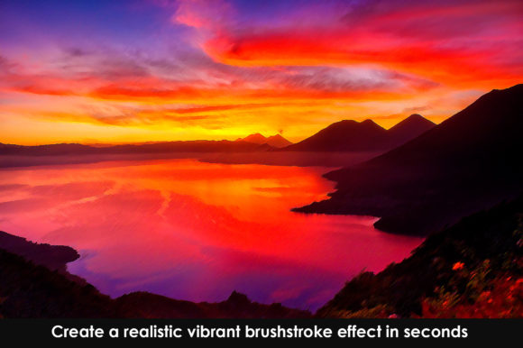 Print on Demand: Vibrant Brushstroke Photoshop Action Graphic Actions & Presets By denestudios - Image 4