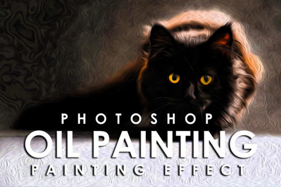 Print on Demand: Vibrant Oil Painting Photoshop Action Graphic Actions & Presets By denestudios