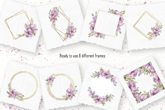 Download Free Watercolor Magnolia Collection Grafico Por Tanatadesign for Cricut Explore, Silhouette and other cutting machines.