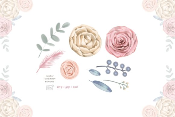 Watercolor Cream Roses Cliparts Graphic Illustrations By NataliMyaStore - Image 2