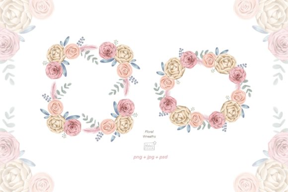 Watercolor Cream Roses Cliparts Graphic Illustrations By NataliMyaStore - Image 4