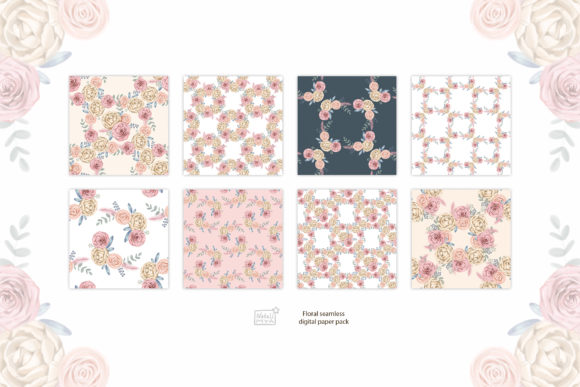 Watercolor Cream Roses Cliparts Graphic Illustrations By NataliMyaStore - Image 5