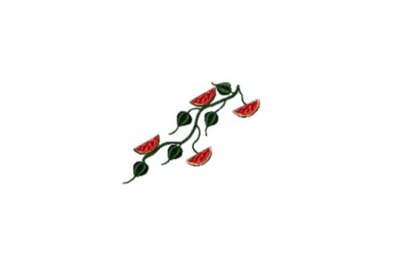 Watermelon Vine Sewing & Crafts Embroidery Design By Red Moon Gardens