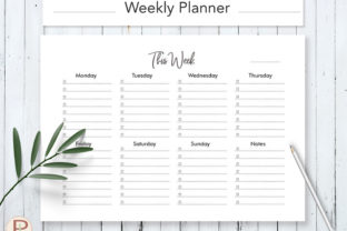 Weekly to Do List Graphic Print Templates By HelArtShop