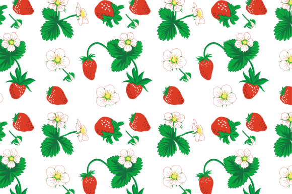 Print on Demand: Wild Strawberry Vector Set Graphic Graphic Print Templates By EmbArt
