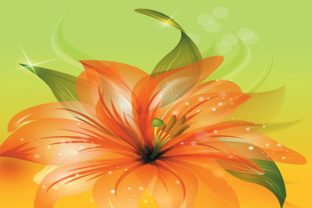 Print on Demand: Beautiful Flowers Background Graphic Backgrounds By ART Design