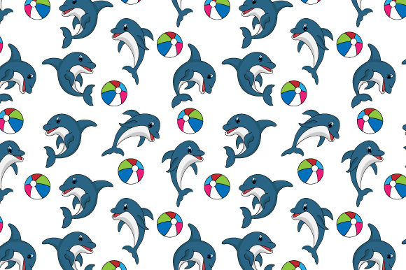 Download Free Dolphin Pattern Graphic By Curutdesign Creative Fabrica for Cricut Explore, Silhouette and other cutting machines.