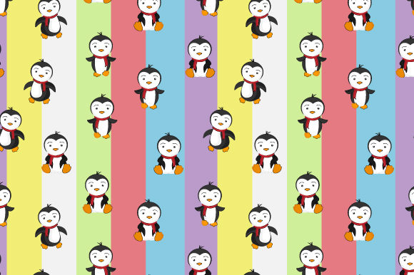 Download Free Penguin Pattern Graphic By Curutdesign Creative Fabrica for Cricut Explore, Silhouette and other cutting machines.