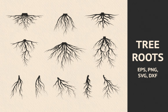 Download Free 11 Hand Drawn Tree Roots Graphic By Kirill S Workshop Creative for Cricut Explore, Silhouette and other cutting machines.