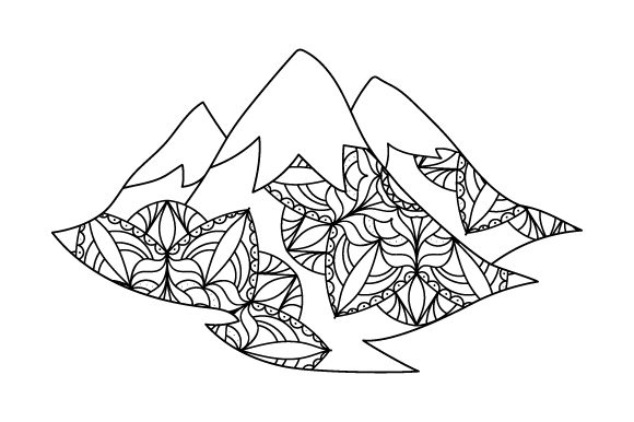 Download Free Snowy Mountain Svg Cut File By Creative Fabrica Crafts for Cricut Explore, Silhouette and other cutting machines.