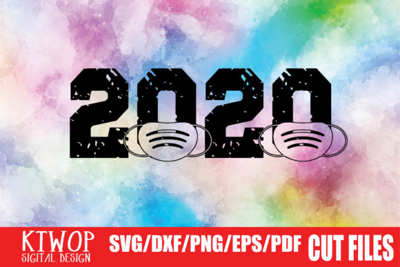 Download Free 2020 Mask Graphic By Ktwop Creative Fabrica for Cricut Explore, Silhouette and other cutting machines.