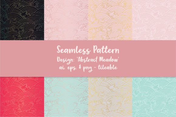 Abstract Meadow Seamless Pattern Graphic Patterns By R Whitehurst Design