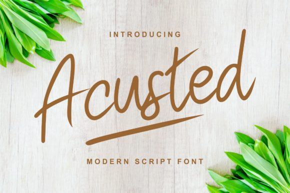 Print on Demand: Acusted Script & Handwritten Font By Vunira
