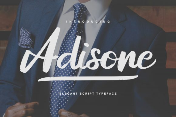 Print on Demand: Adisone Script & Handwritten Font By Vunira