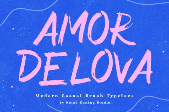 Print on Demand: Amor Delova Display Font By Kotak Kuning Studio