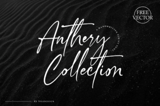 Print on Demand: Anthery Collection Script & Handwritten Font By Vilogsign 1