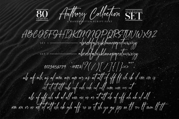 Print on Demand: Anthery Collection Script & Handwritten Font By Vilogsign - Image 13