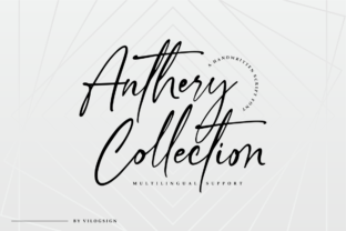 Print on Demand: Anthery Collection Script & Handwritten Font By Vilogsign 14