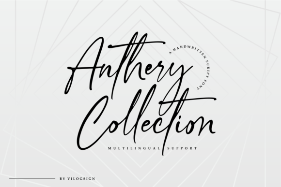 Print on Demand: Anthery Collection Script & Handwritten Font By Vilogsign - Image 14