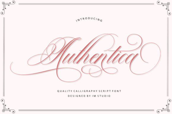 Download Free Authentica Font By Im Studio Creative Fabrica for Cricut Explore, Silhouette and other cutting machines.