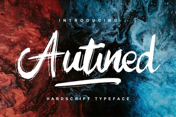 Print on Demand: Autined Script & Handwritten Font By Vunira