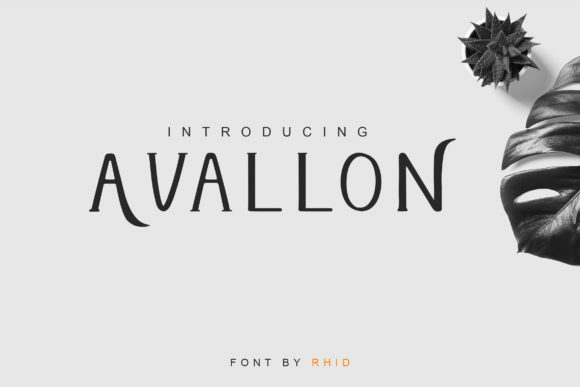 Print on Demand: Avallon Serif Font By RHIDTYPE
