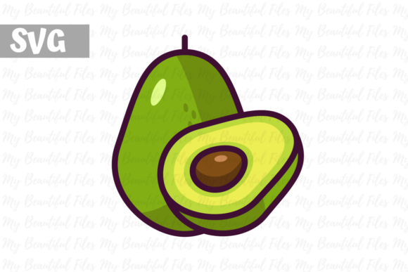 Download Free Avocado Illustration Icon Svg Graphic By Mybeautifulfiles for Cricut Explore, Silhouette and other cutting machines.