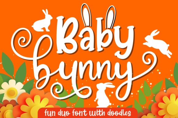 Download Free Baby Bunny Font By Hansco Creative Fabrica for Cricut Explore, Silhouette and other cutting machines.