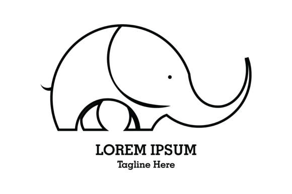 Download Free Baby Elephant Logo Vector Graphic By Yuhana Purwanti Creative for Cricut Explore, Silhouette and other cutting machines.