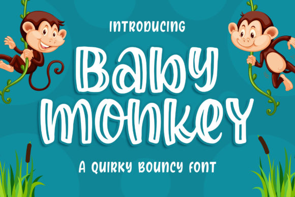 Print on Demand: Baby Monkey Display Fuente Por Blankids Studio