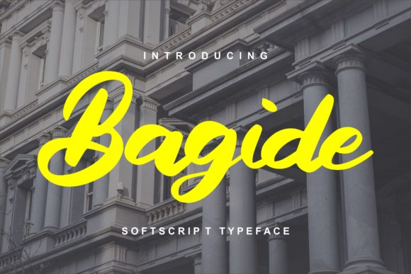 Print on Demand: Bagide Script & Handwritten Font By Vunira