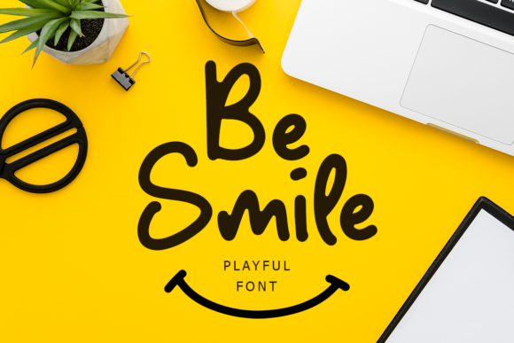 Print on Demand: Be Smile Display Font By lyanatha