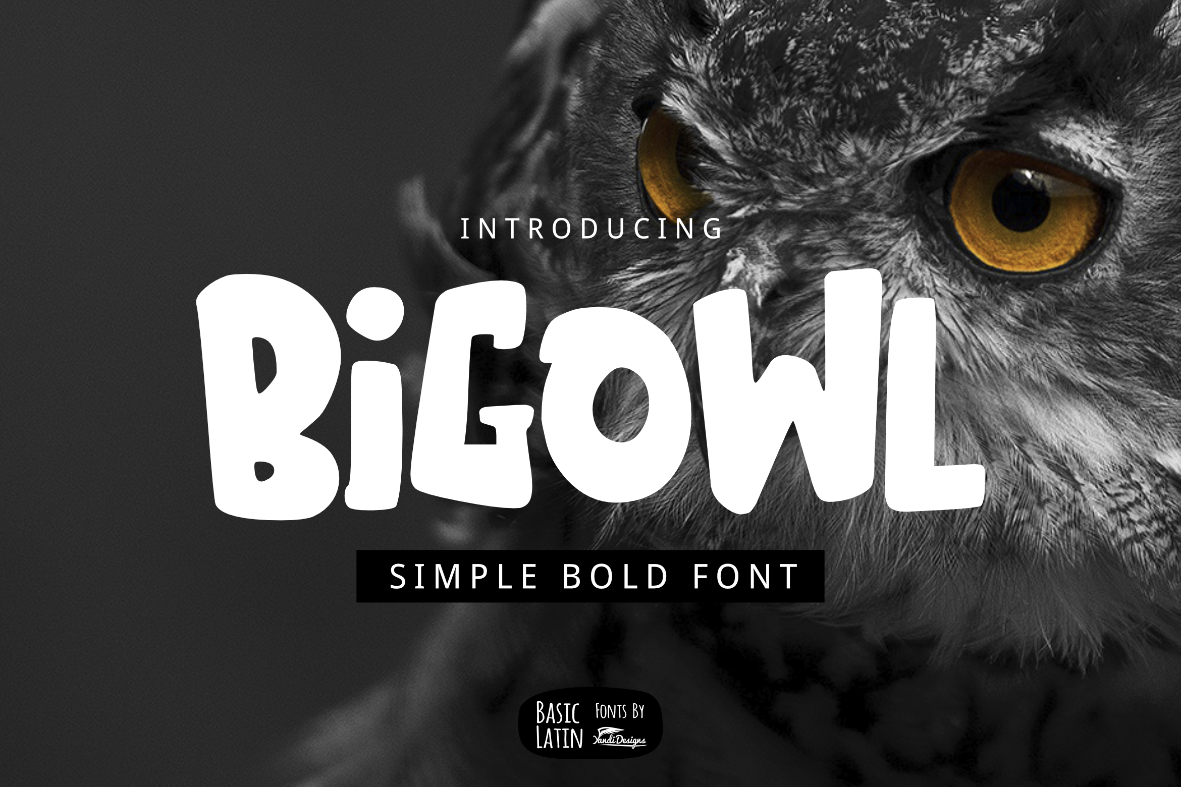 Download Free Big Owl Font By Yandidesigns Creative Fabrica for Cricut Explore, Silhouette and other cutting machines.