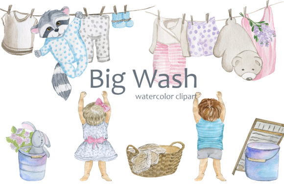 Print on Demand: Big Wash Graphic Illustrations By laffresco04