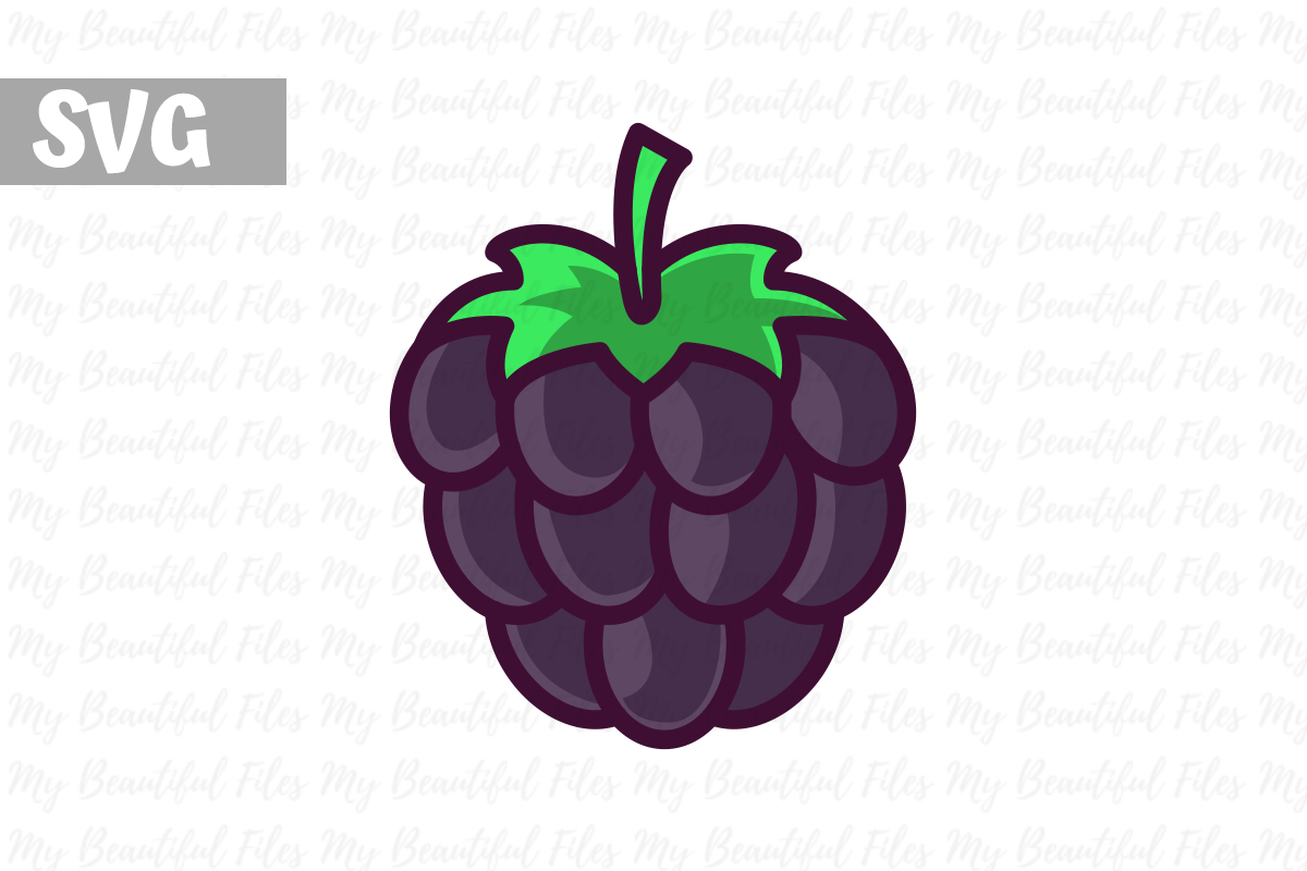 Download Free Blackberry Illustration Icon Svg Graphic By Mybeautifulfiles for Cricut Explore, Silhouette and other cutting machines.