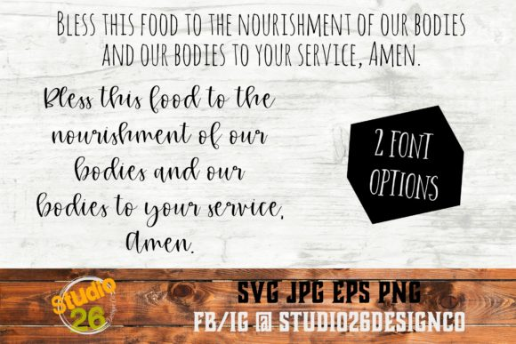 Download Free Bless This Food Amen Grafico Por Studio 26 Design Co Creative for Cricut Explore, Silhouette and other cutting machines.