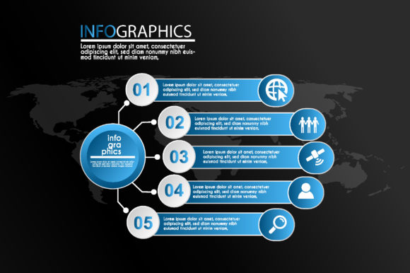 Blue Infographic Design Template Graphic Infographics By sartstudio