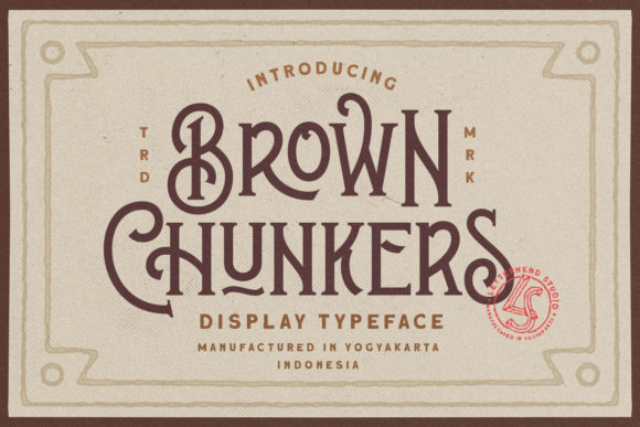 Print on Demand: Brown Chunkers Display Font By letterhend - Image 1
