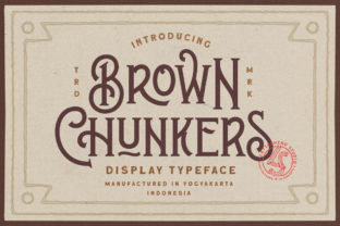 Print on Demand: Brown Chunkers Display Font By letterhend