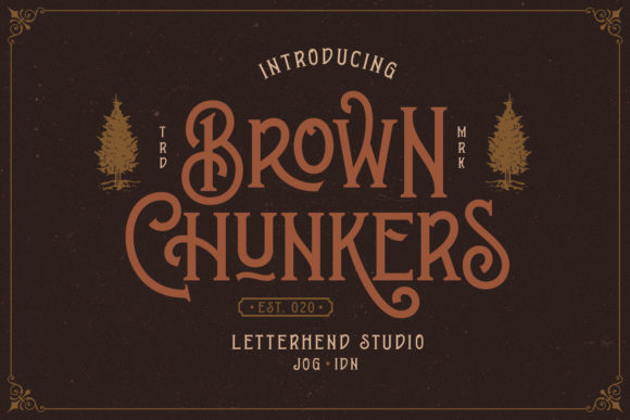 Print on Demand: Brown Chunkers Display Font By letterhend - Image 10