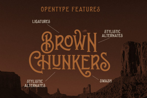Print on Demand: Brown Chunkers Display Font By letterhend - Image 8