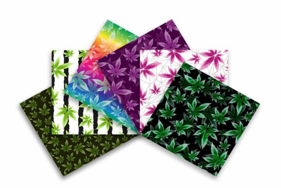 Cannabis Leaf Seamless Pattern Graphic Patterns By sashica designs