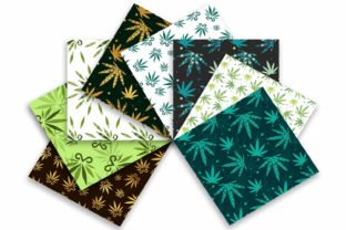 Cannabis Leaves Seamless Pattern Graphic Patterns By sashica designs