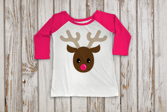 Christmas Reindeer Head Graphic Crafts By DesignedByGeeks