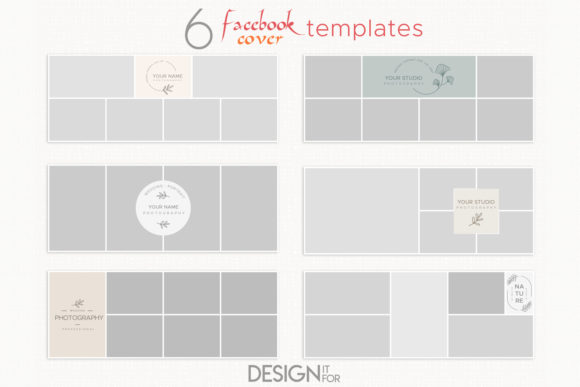 Print on Demand: Collage Facebook Cover Template Graphic Graphic Templates By DesignItfor