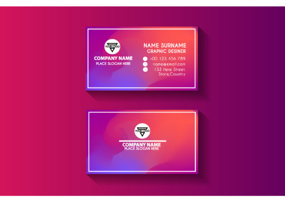 Color Business Card Design Template Graphic Print Templates By sartstudio