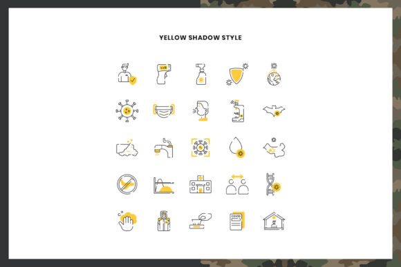 Download Free Coronavirus Disease Icons Pack Graphic By Stringlabs Creative for Cricut Explore, Silhouette and other cutting machines.